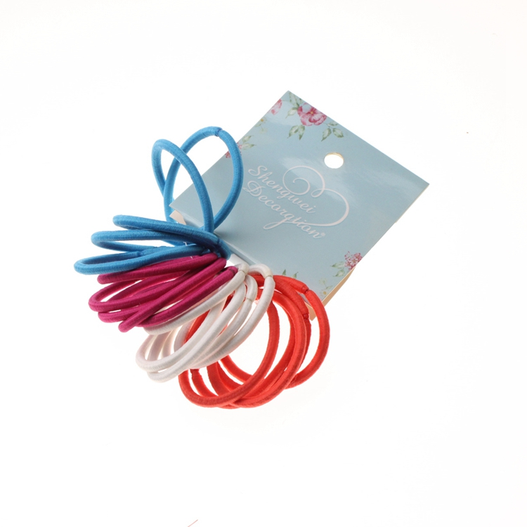 4mm Girls Elastic Hair Band Rope Mixed Color Ponytail Holders