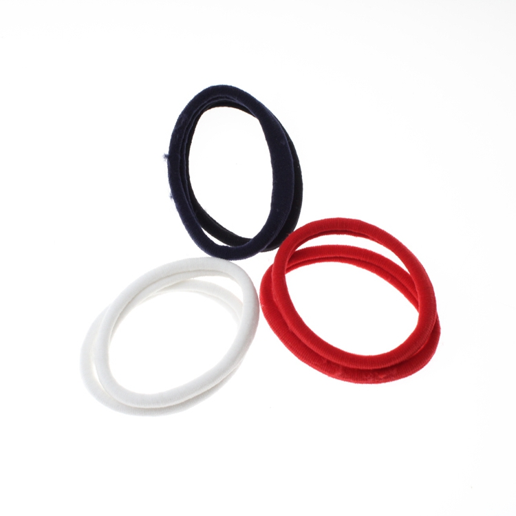 Pure Color Simple Elastic Hair Tie Rope Ponytail Holder For Thick Heavy And Curly Hair