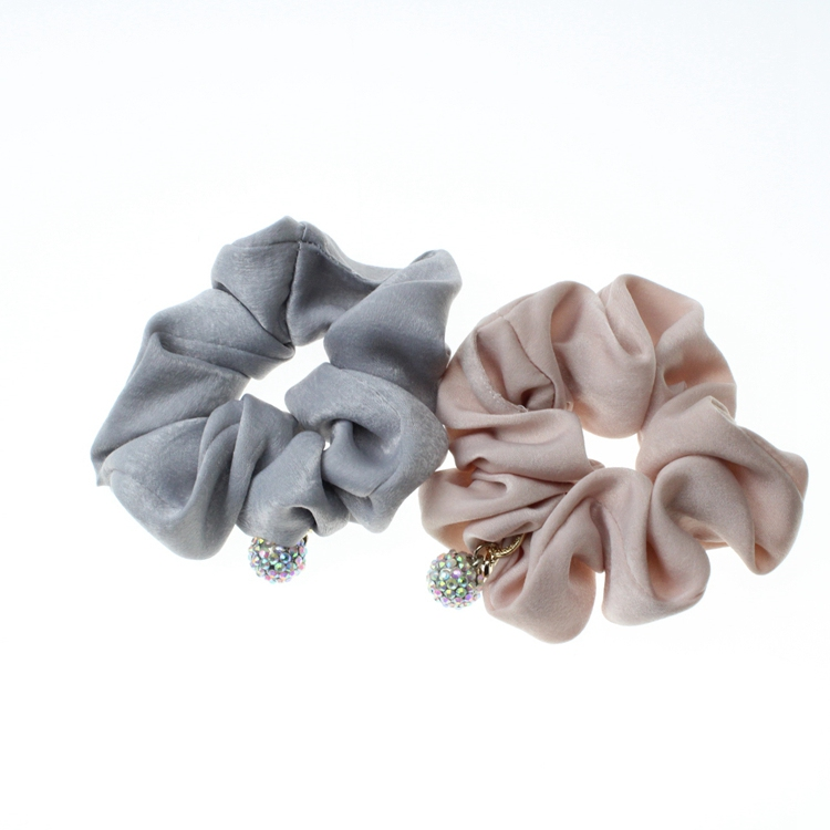 Hair Scrunchie Elastic Hair Tie Rope Ponytail Holder Hair Accessory With Jewelry For Girls And Women