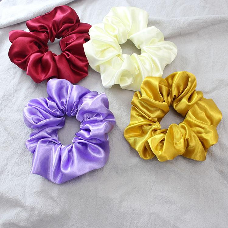 Satin Hair Scrunchies Women Hair Accessories Elastic Hair Band Ties