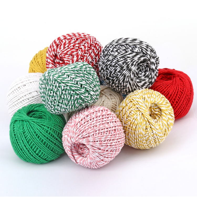 1.5mm Cotton Rope Macrame Cord Two-color Cotton Packaging Thread Holiday Decoration Rope
