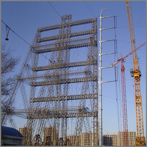 Transmission tower steel tubular poles tower