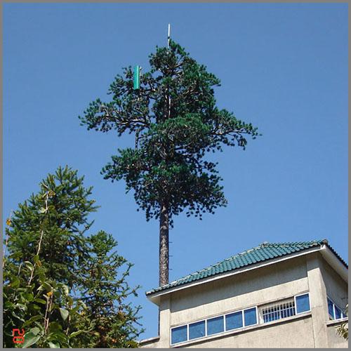 Telecommunication Pine Tree Steel Monopole Tower