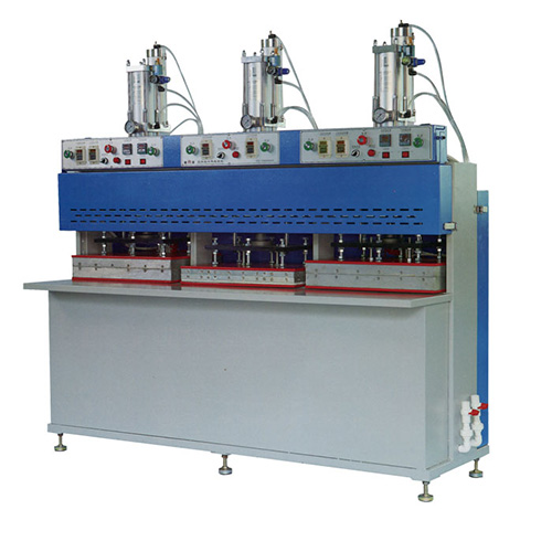 Máquina de prensado sin costura de 3 estaciones