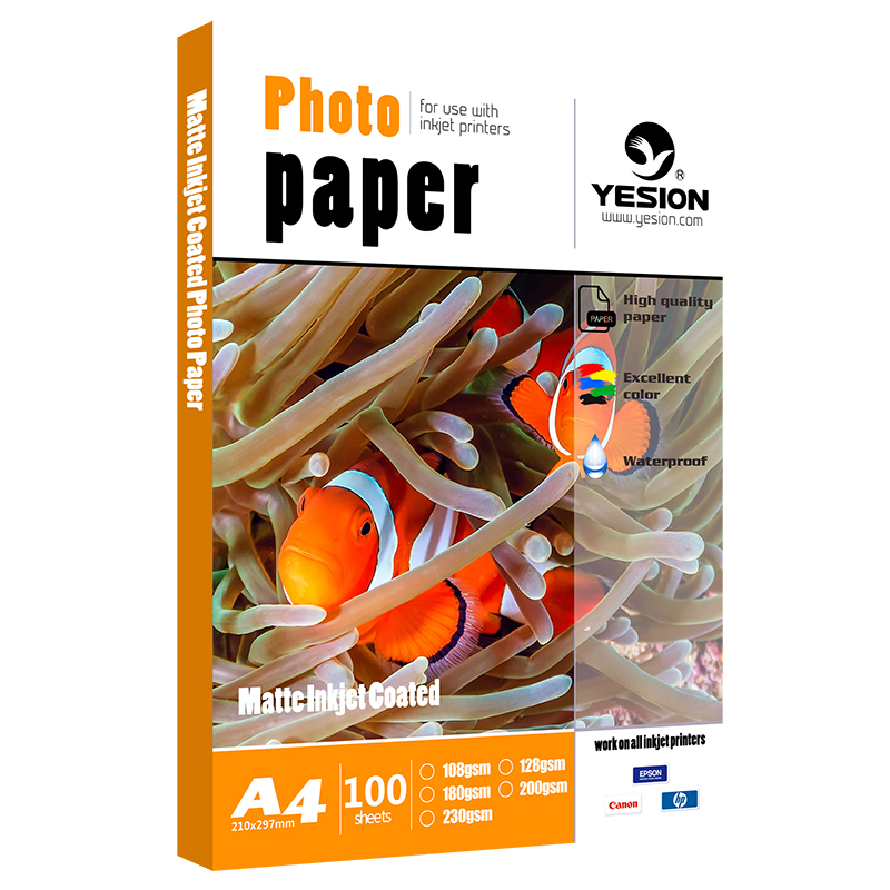 Yesion 108gsm 128gsm matte photo paper