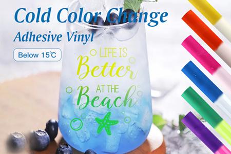 Hot Sensitive Color Changing Adhesive Craft Sticker Vinyl