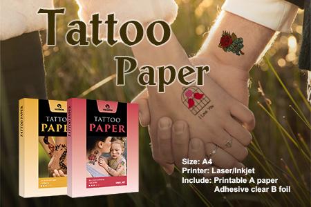 Inkjet & Laser Tattoo Paper