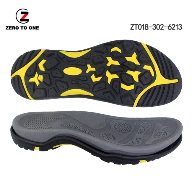 2020 New Design OEM Custom Color Logo Non-slip Durable EVA MD+TPR Sport Sandal Sole