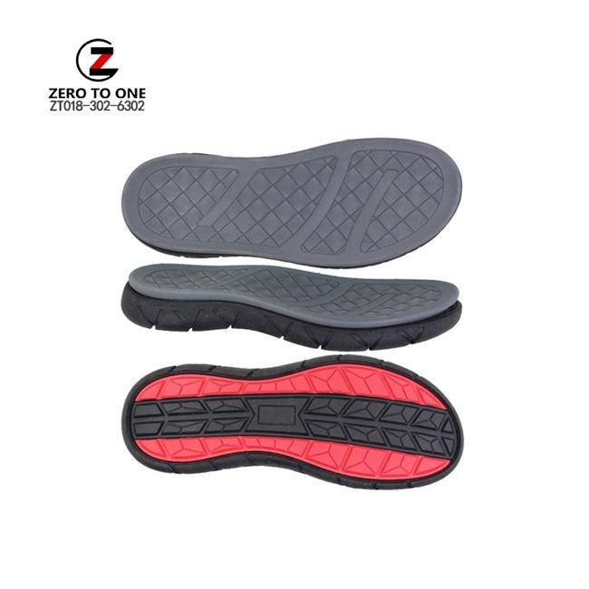 New Design Double Colors Light Soft EVA Phylon MD Men Thick Sole Sandal Outsole