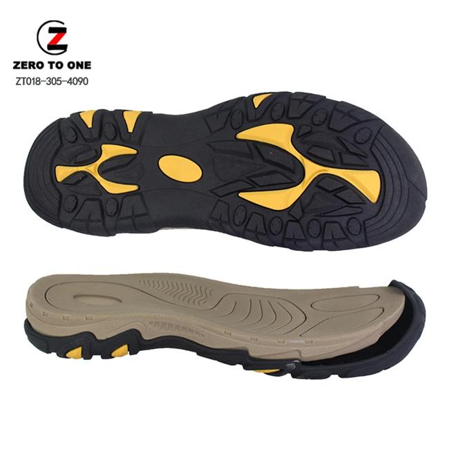 New Fahion Double Colors EVA Phylon Shoe Sole For Sandal Making Oustole Sandal Sole Manufacturer