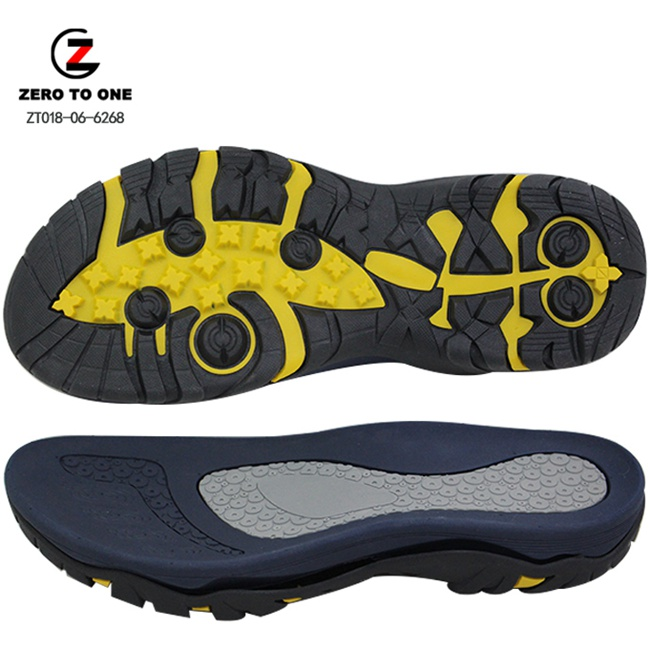 Popular Hot-selling Men Design Double Colors Custom EVA MD Phylon and TPR Sandal Sole