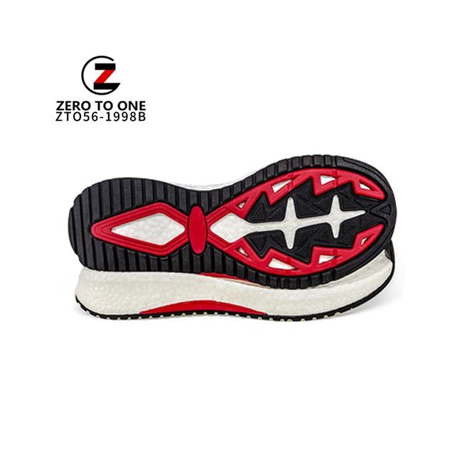 E-TPU Material Three Colors Custom Logo EVA ETPU EPS Rubber TPR Running Sneaker Soles