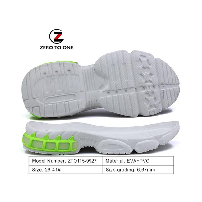 Jinjiang World-Win BLACK White Running Sport Shoes Men Air Cushion Rainbow Out Sole Boy Sneakers