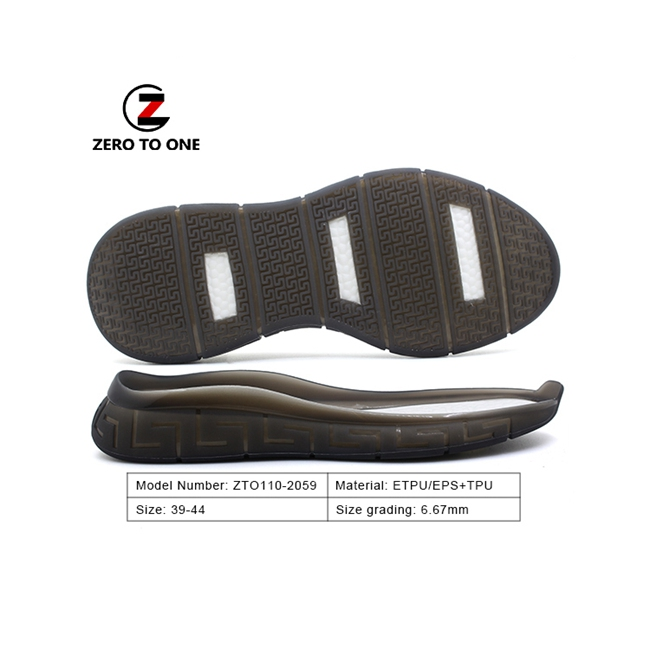Professional Wear proof Two Material High Tenacity Tpu Eva Shoe Sole For Excursion