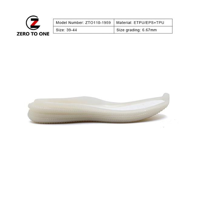 ZTO ETPU Fashion Design Textured Combination Of Materials Antibacterial Eva Tpu Sole For Training