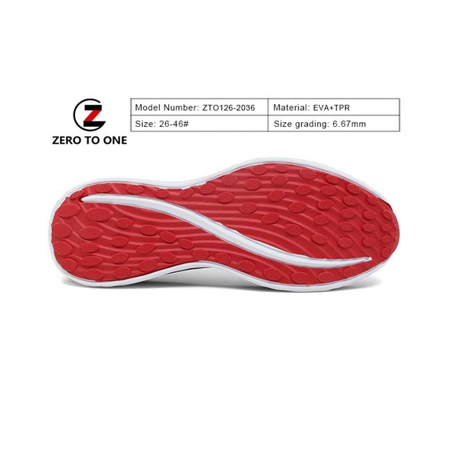 Zero To One Elegant Chunky Heel Eva Tpr outsole For Lady Sandal Making