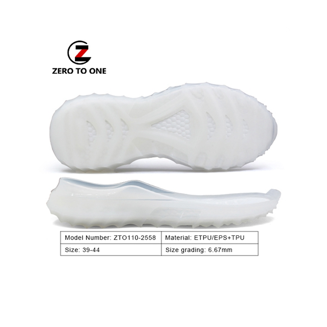 ZTO ETPU China Making Stylish Two Material Shockproof Eva Tpu Sole Sport Shoes For Training