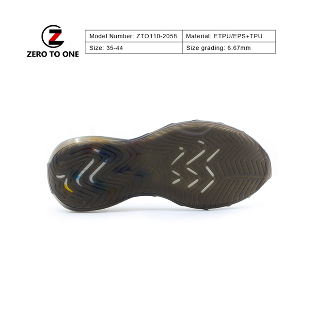 ZTO ETPU Well Design Eco Friendly Two Material High Tenacity Eva Tpu Sport Shoes Outsole For Movement