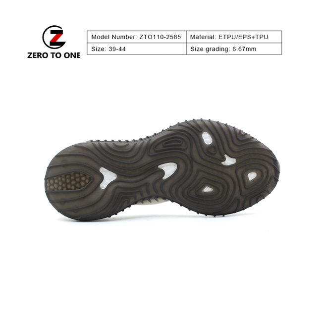 ZTO ETPU Low Price Trendy Two Material Good Hydrolysis Resistance Eva Tpu Sports Shoe Sole For Training