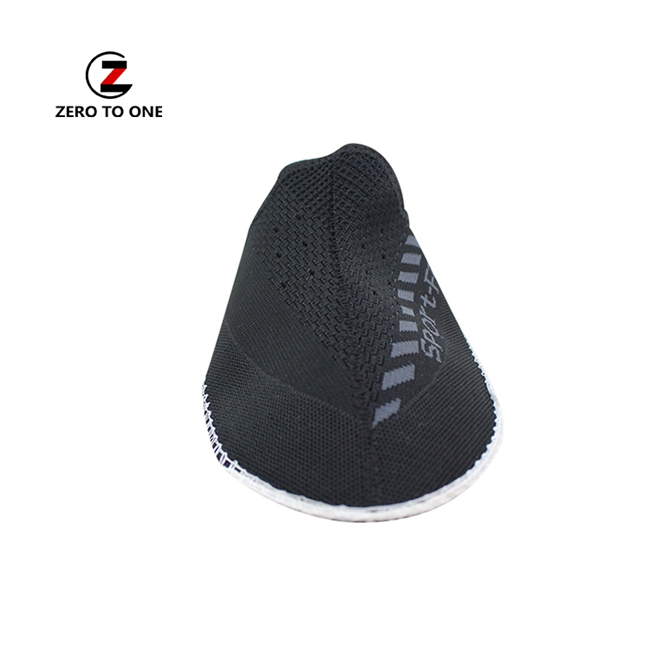Customized Logo Sneaker Mesh Upper Unisex Embroidered Semi Finished Shoe Upper For Shoe Making