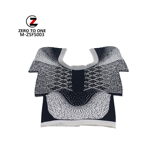 Fashion Design Silver Thread mixed Shoe Upper Fly Knit Slip-on Upper Part Semi-Finished Upper